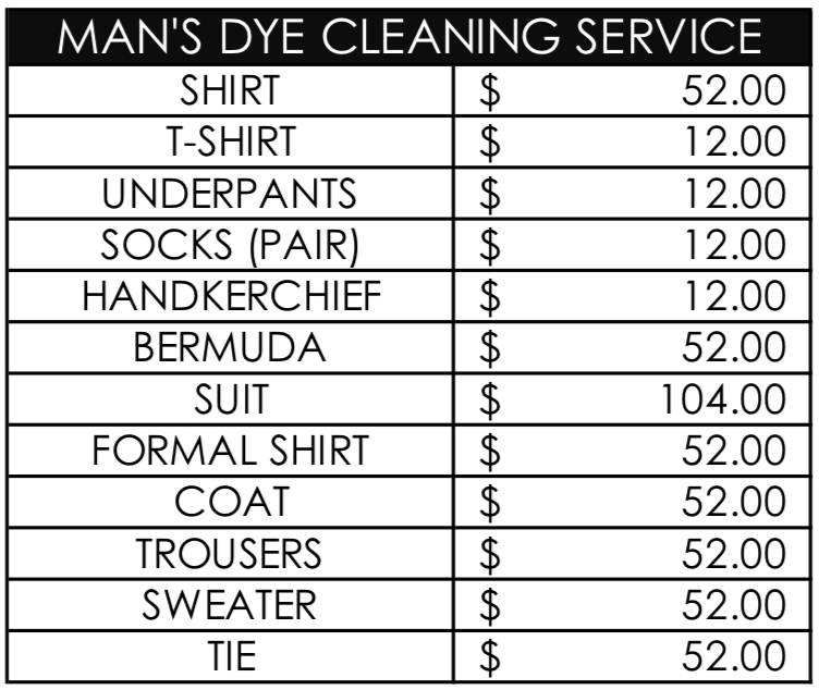 man's dry cleaning